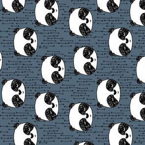 panda // railroad kids baby blue  grey boys panda design