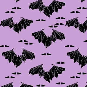 bat // halloween pastel purple lilac bats geo geometric tri triangles fabric by andrea lauren