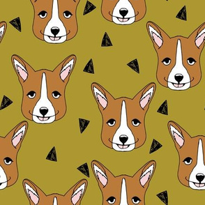 corgi // corgis fabric pet dogs fabric