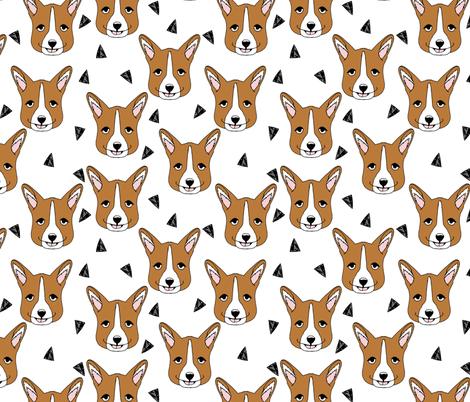 corgi // corgis face corgi cute dogs best dog fabric fabric by andrea_lauren on Spoonflower - custom fabric