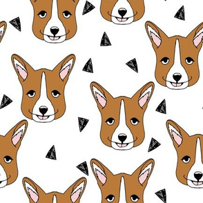 corgi // corgis face corgi cute dogs best dog fabric