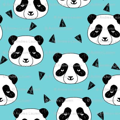 Hello Panda - Aqua by Andrea Lauren
