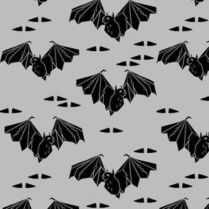 bat // halloween bats grey triangle trendy geo geometric halloween bats