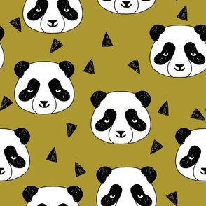 Hello Panda - Golden Olive by Andrea Lauren