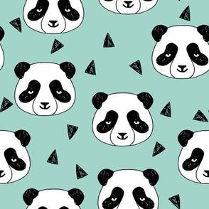 Hello Panda - Pale Turquoise by Andrea Lauren