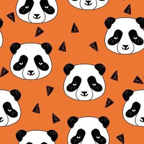 Hello Panda - Tangelo Orange by Andrea Lauren