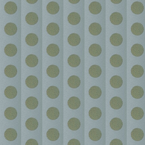 green fuzzy dots on blue background