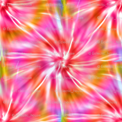 Pink and Red Tie Dye