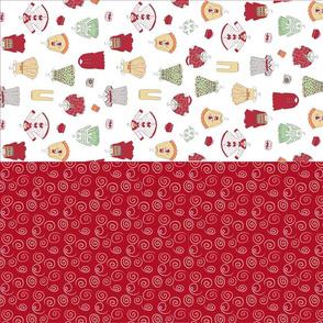 Christmas Wardrobe mini tote