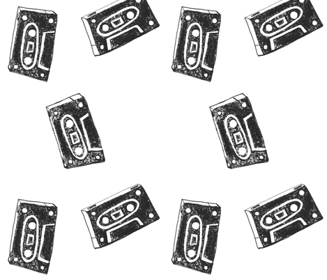 Fast Forward Cassette Tapes fabric by christina_rowe on Spoonflower - custom fabric