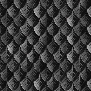 Feather Leaf Scales Armor Black