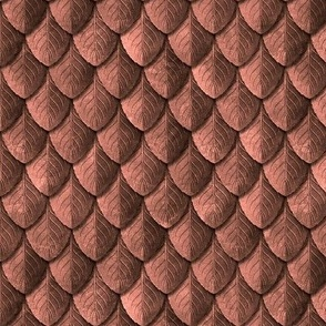 Feather Leaf Scales Armor Old Copper
