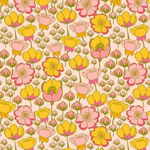 Stewartia Flowers Pink