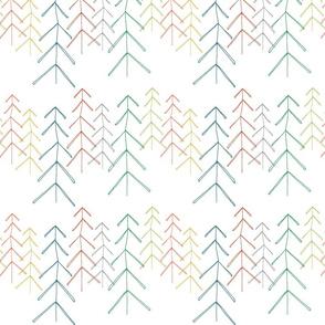 Hollow Pine - multi colour