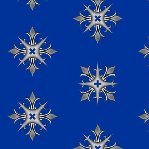Medieval Cross Blue