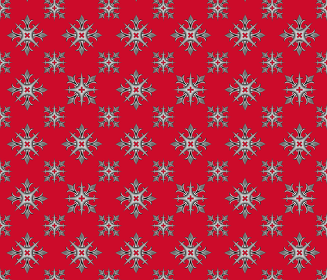Medieval Cross V2 Red fabric by wickedrefined on Spoonflower - custom fabric