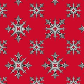 Medieval Cross V2 Red