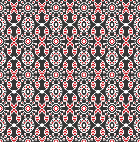 Holiday Joy Red Black fabric by eve_catt_art on Spoonflower - custom fabric