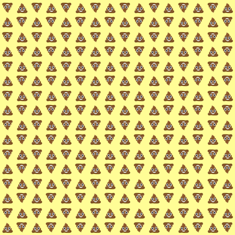 Poo on Yellow fabric by shelleyfaye on Spoonflower - custom fabric