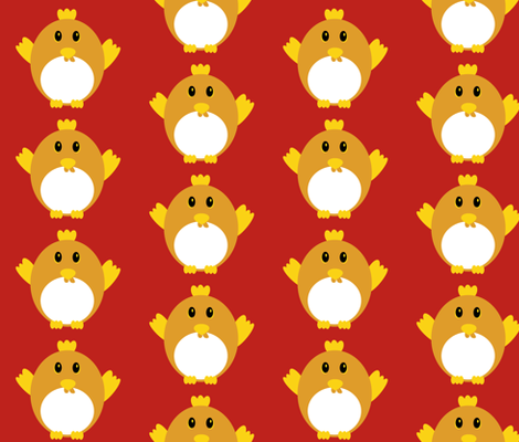 Cute Chicken fabric by ilovecotton on Spoonflower - custom fabric