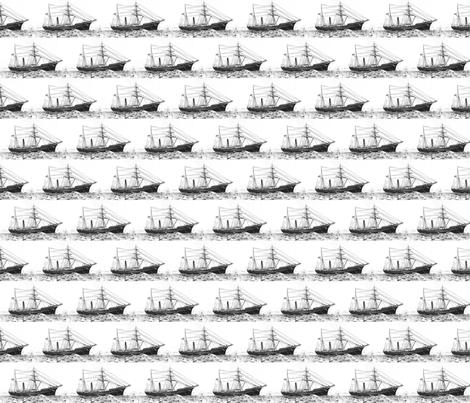 Danita's Tall Sailing Ship fabric by midcoast_miscellany on Spoonflower - custom fabric