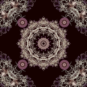 elegant brown mandala kaleidoscope