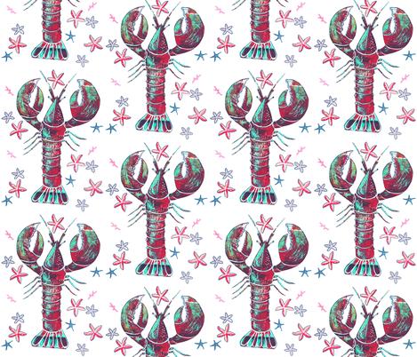 Lobster Fiesta fabric by christina_rowe on Spoonflower - custom fabric