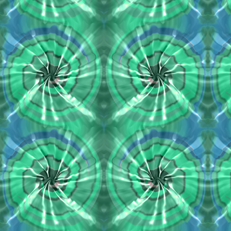 Mint Tie Dye fabric by eclectic_house on Spoonflower - custom fabric