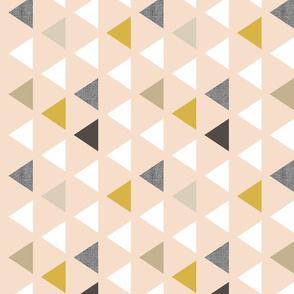 Gold Blush Triangles 90 deg