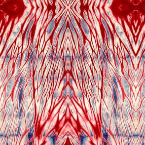 Shibori -Arashi Red Indigo