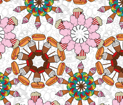 Kaleidoscope foraine fabric by fanny-bonenfant on Spoonflower - custom fabric