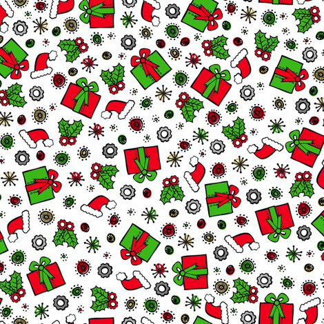 Santa Robot's Presents fabric by robyriker on Spoonflower - custom fabric