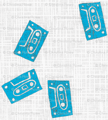 Bring On The Blues Cassette Tape Fabric Christina Rowe