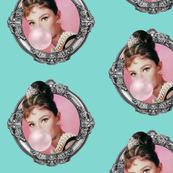 Audrey Blue Background