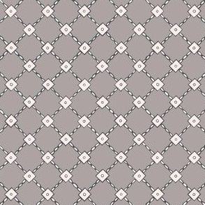Stitched sequin lattice