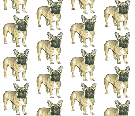 Frenchie fabric by taraput on Spoonflower - custom fabric