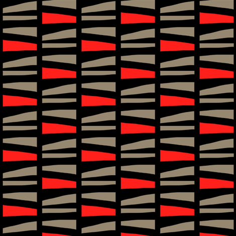 Abstract Stacked Logs Red Gray Black fabric by eve_catt_art on Spoonflower - custom fabric