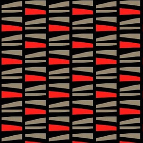Abstract Stacked Logs Red Gray Black