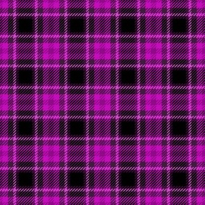 Punky Plaid 205 Magenta Pink Black