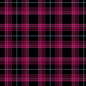 Punky Plaid 216 Pink Turquoise