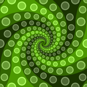 tentacle sucker spiral 3 : lime green