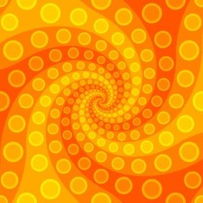 tentacle sucker spiral 3 : sunshine orange