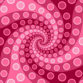 tentacle sucker spiral 3 : pink