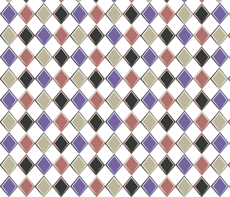 Harlequin Diamond Coordinating Pattern III fabric by jennifer_todd on Spoonflower - custom fabric