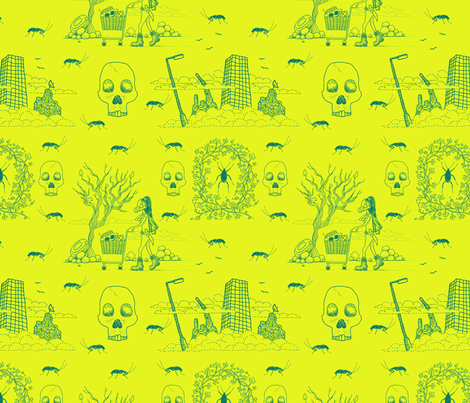 I'm a Survivor (toxic waste) fabric by seesawboomerang on Spoonflower - custom fabric