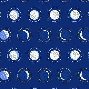 Crater moon phase polka