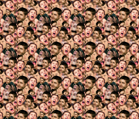 The Dean Scream fabric by sharksvspenguins on Spoonflower - custom fabric