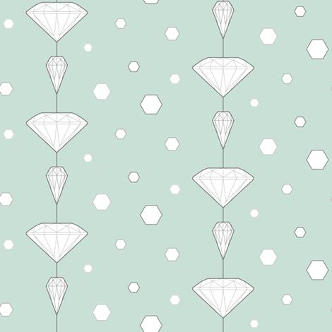 Diamond lines_turqoise fabric by align_design on Spoonflower - custom fabric