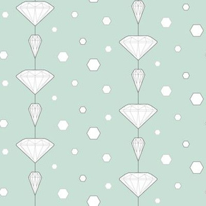 Diamond lines_turqoise