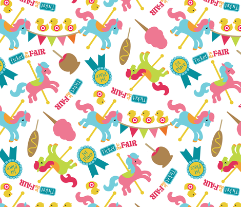 At the Fair fabric by tictactogs on Spoonflower - custom fabric